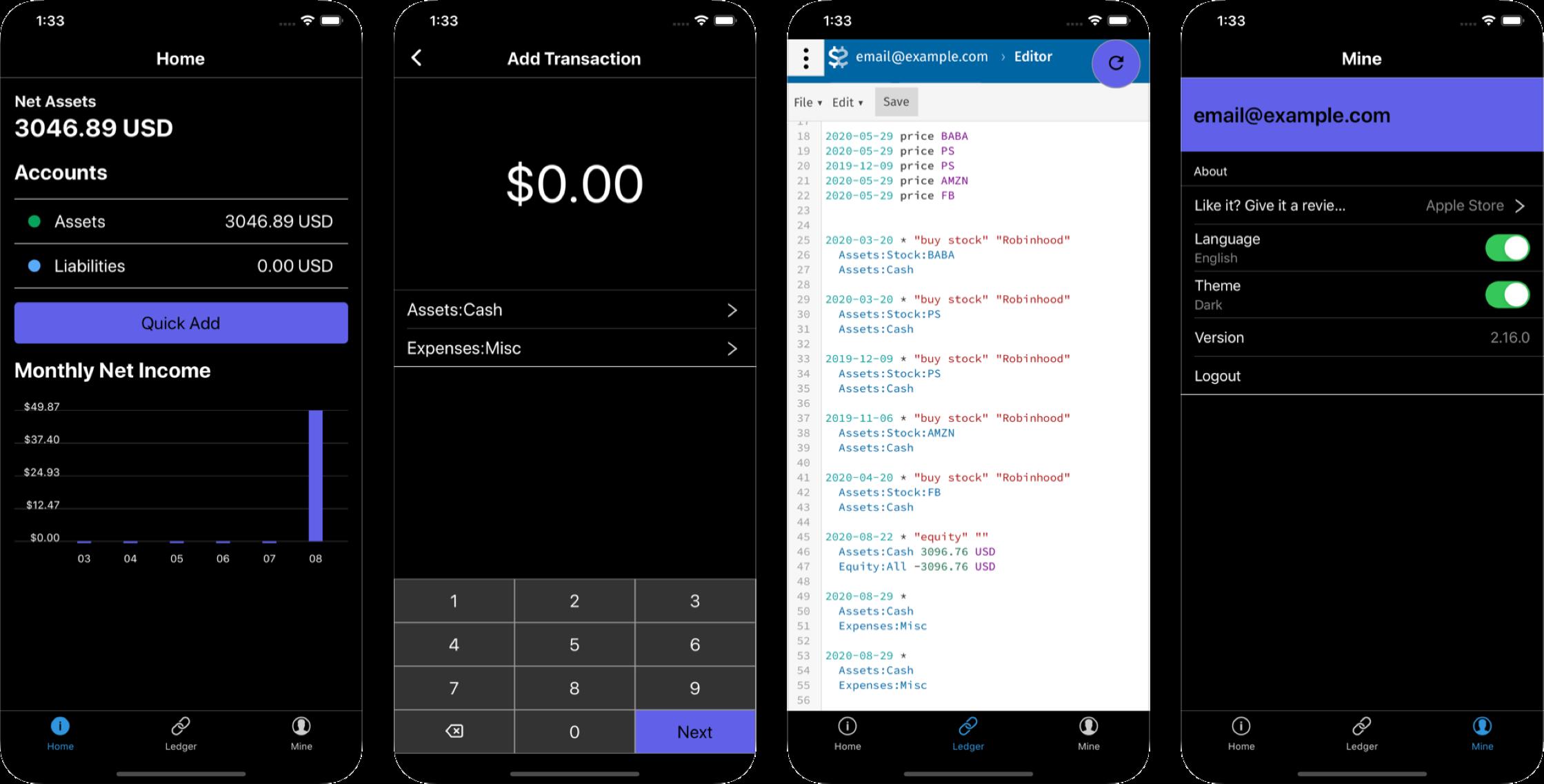 Beancount iOS App